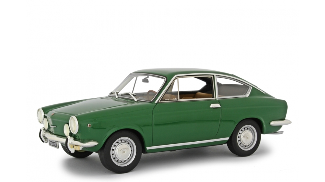Fiat 850 Sport Coupe 1968 Green 1 18 Traffic Modelcars